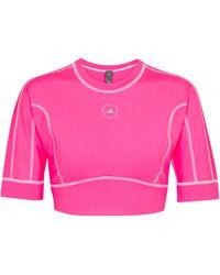 adidas By Stella McCartney Cropped-Top TrueStrenght - Pink