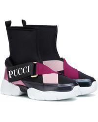 Emilio Pucci Zapatillas de caña alta de neopreno - Multicolor