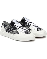 Givenchy Chain Tennis Light Low Sneakers Navy White - Blau