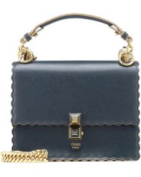 a0a95b4d172 Kan I Small Leather Shoulder Bag - Blue