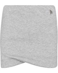 The Attico Minifalda Ezra en mezcla de algodón - Gris