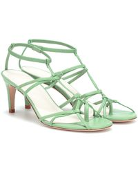 Tibi Gavin Leather Sandals - Green