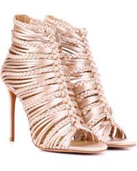 Aquazzura - Goddess 105 Satin Sandals - Lyst