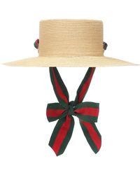 Gucci Paper Straw Hat - Green