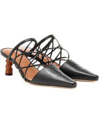 Rejina Pyo Lisa Leather Mules - Black