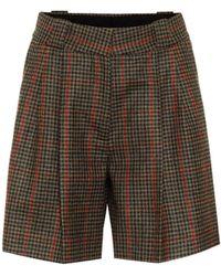 Blazé Milano Fell Checked Wool Shorts - Green