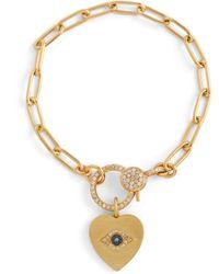 Ileana Makri Armband Eye Heart aus 14kt Gold mit Diamanten - Mettallic