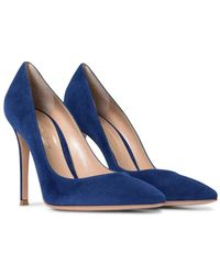 Gianvito Rossi Pumps Gianvito 105 in suede - Blu