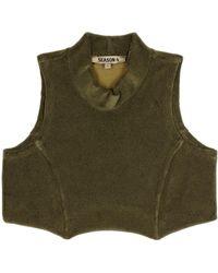 Yeezy Cotton-blend Terrycloth Crop Top (season 4) - Green