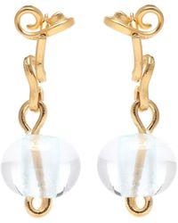 Marni Aretes Glass adornados - Metálico