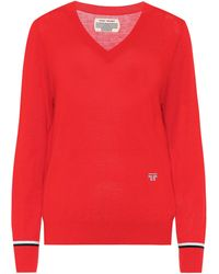 Tory Sport Pullover mit Wollanteil - Rot