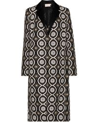 Tory Burch Embroidered Coat - Black