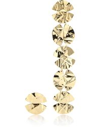 248249f03023 Anissa Kermiche - Architect Asymmetrical 18k Gold-plated Earrings - Lyst