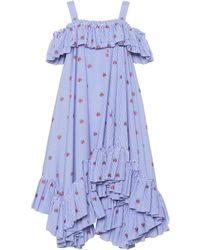 Alexander McQueen - Embroidered Cotton Dress - Lyst