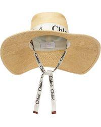 Chloé Cappello Woody con logo - Neutro