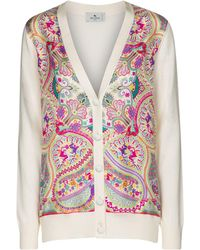 Etro Cardigan imprimé en coton mélangé - Multicolore