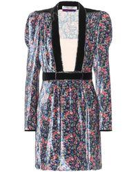 Philosophy Di Lorenzo Serafini Floral Velvet Minidress - Multicolour