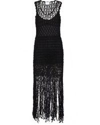 Anna Kosturova Gypsy Crochet Minidress - Black