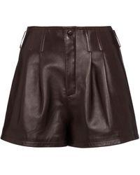 Saint Laurent Leather Shorts - Multicolor