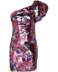 Isabel Marant Robe asymétrique Osira à sequins - Multicolore