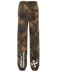 Off-White c/o Virgil Abloh Pantaloni sportivi a stampa camouflage - Verde