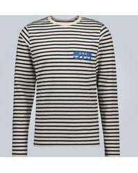 Junya Watanabe Man X Merz B. Schwanen Striped Long-sleeved T-shirt - Blue