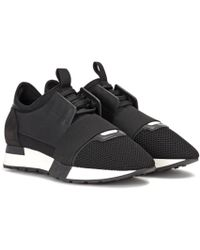 Balenciaga - Leather-trimmed Sneakers - Lyst