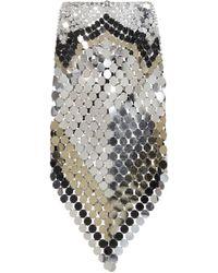 Paco Rabanne Paillette-embellished Skirt - Multicolour