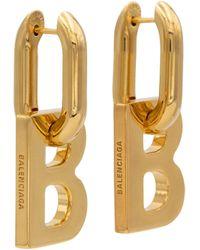 Balenciaga Boucles d'oreilles B Chain XL - Métallisé