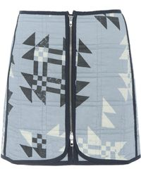 Isabel Marant Lickly Quilted Cotton Skirt - Blue