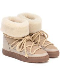 Inuikii Classic Suede Boots - Natural