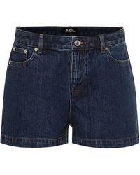A.P.C. High Standard Denim Shorts - Blue