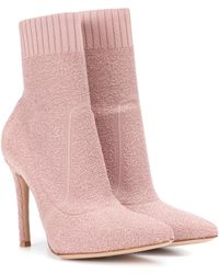 Gianvito Rossi Fiona Booties - Pink