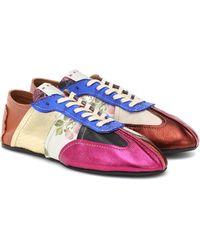 Marni Sneakers Tapestry aus Leder - Mehrfarbig