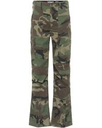 RE/DONE High-rise Cargo Pants - Green