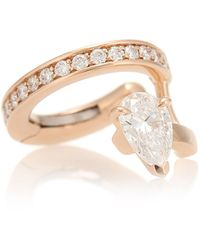 Repossi Serti Sur Vide 18kt Rose-gold And Diamond Ear Cuff - Metallic