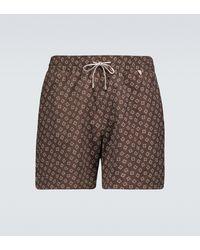 Loro Piana Bay Soft Tiles Printed Swim Shorts - Multicolor
