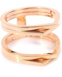 Repossi - Antifer 18kt Rose Gold Ring - Lyst