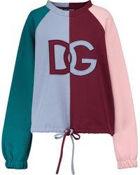 Dolce & Gabbana Logo Cotton Sweatshirt - Blue