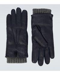 Loro Piana Handschuhe Stirling aus Leder - Blau