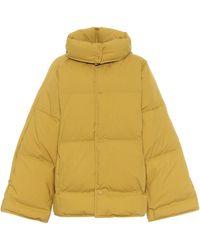 Bottega Veneta Cotton Poplin Down Jacket - Yellow