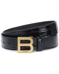 Balenciaga Gürtel aus Leder - Schwarz