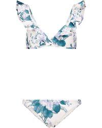 Zimmermann Bikini Cassia - Blau