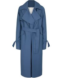 Peter Do Wool-blend Trench Coat - Blue