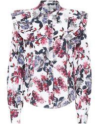 Erdem - Caterina Floral Cotton-poplin Top - Lyst