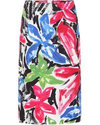Marni Floral High-rise Cotton Skirt - Multicolour