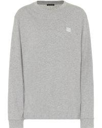 Acne Studios Face Cotton Sweatshirt - Grey