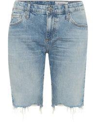 AG Jeans Bermuda Nikki en jean - Bleu
