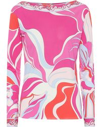 Emilio Pucci - Printed Silk-blend Top - Lyst