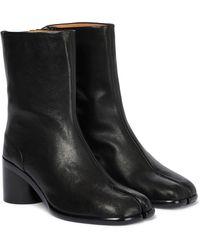 Maison Margiela Ankle Boots Tabi aus Leder - Schwarz